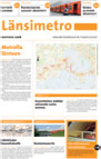 Länsimetron lehden kansi 2008