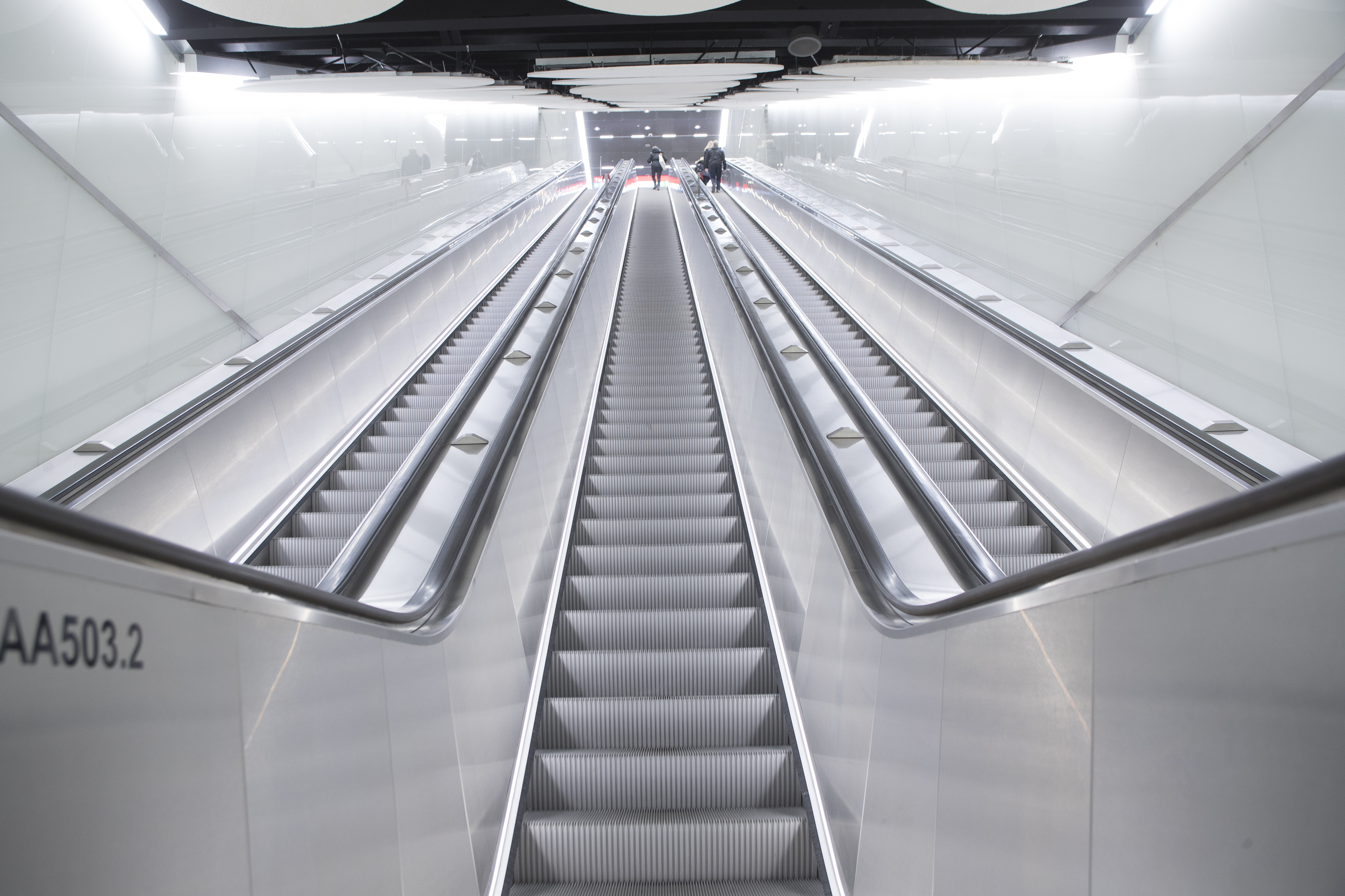 Elevators and escalators for the stations along the
