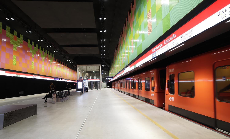 Niittykummun metroaseman asemalaituri