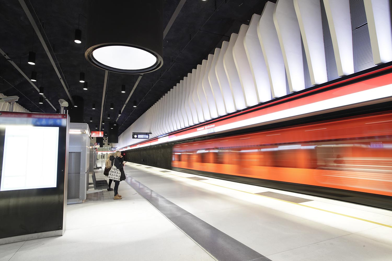 Koivusaaren metroaseman asemalaituri