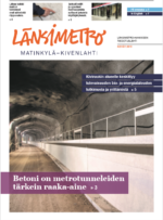 Länsimetro-lehden kansi 1/2019