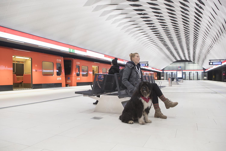 Matinkylän metroaseman metroaseman metrolaituri.