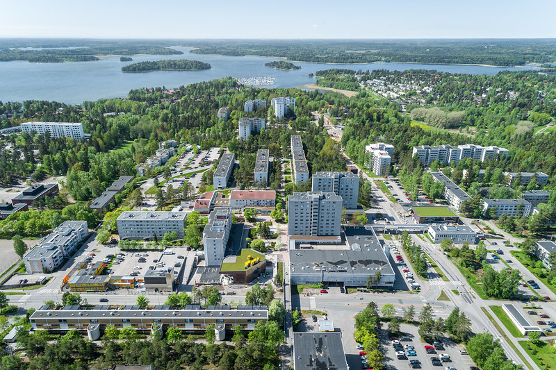 Aerial picture of Soukka area