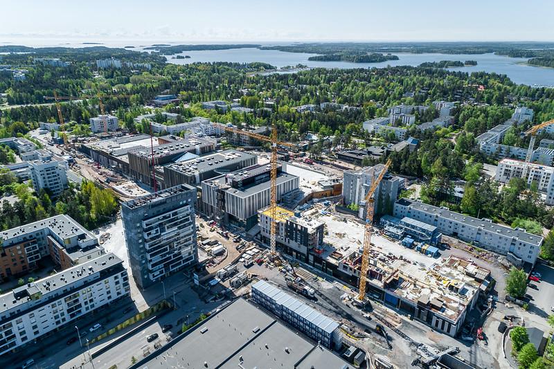 Aerial picture of Espoonlahti area.
