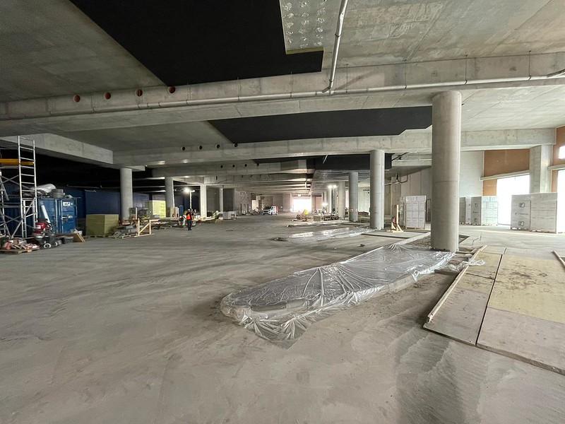 Kuvassa on Espoonlahden metroaseman yhteyteen tulevan bussiterminaalin työmaa.