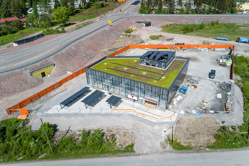 Aerial picture of Finnoonsilta entrance